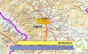 نقشه شهر مقدس مشهد
