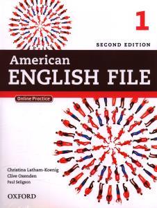 SECOND EDITION American ENGLISH FILE 1 CD دوجلدی