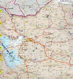 راهنمای راههای استان آذربایجان شرقی