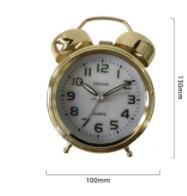 ساعت فلزی شماته دار 12 سانت طلایی