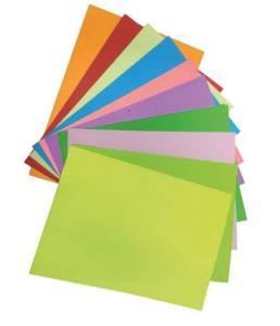 کاغذ رنگی یک رو  10 تایی