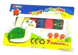 خمیر بازی 7 رنگ مقوایی