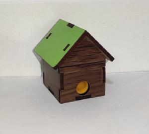 تراش کلبه چوبی/ رادیو چوبی